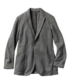 <ニッセン>【紳士服】 裏ボーダーカットソージャケット メンズジャケット・ブルゾン画像