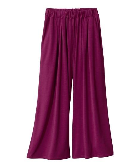 毛玉になりにくいカットソースカンツ(吸汗速乾) (大きいサイズレディース)パンツ, plus size pants