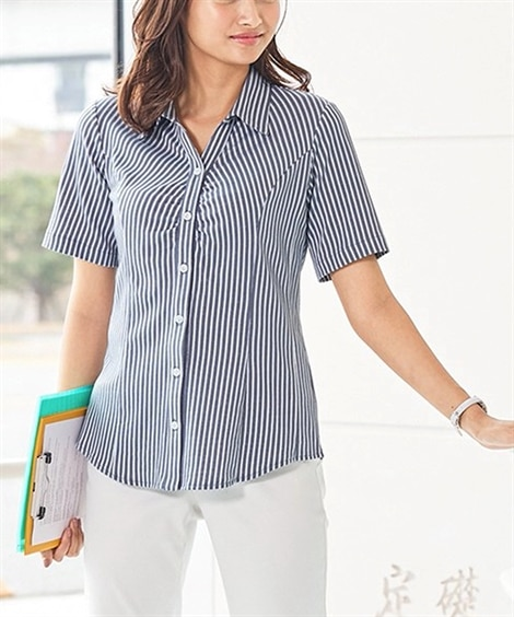 綿混半袖カットソースキッパーシャツ(消臭テープ付)(ゆったり...