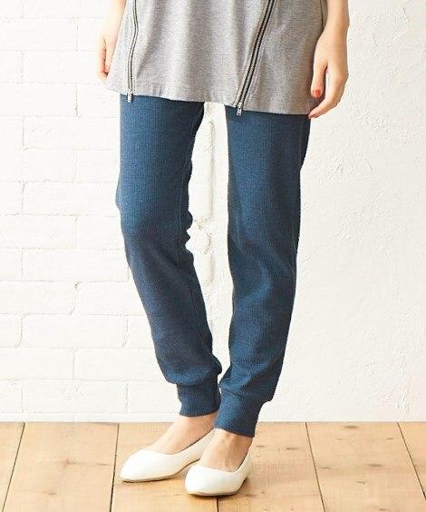 【大きいサイズ】 ワッフルカットソージョガーパンツ パンツ, plus size pants
