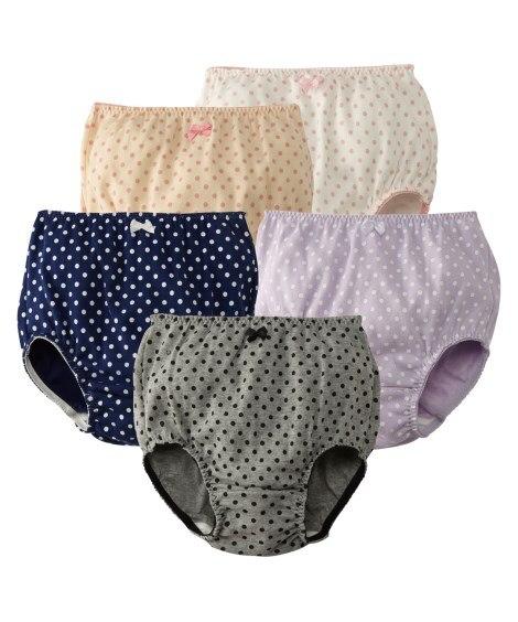 綿100%レギュラーショーツ5枚組(女の子 子供服。ジュニア服) キッズ下着, Kid's Underwear