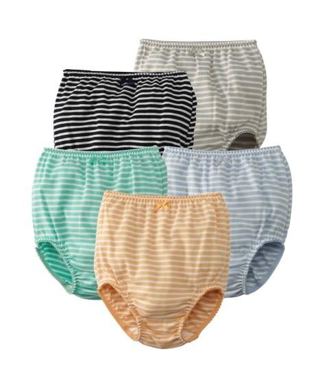 綿100%お腹すっぽりショーツ5枚組(女の子 子供服。ジュニア服) キッズ下着, Kid's Underwear