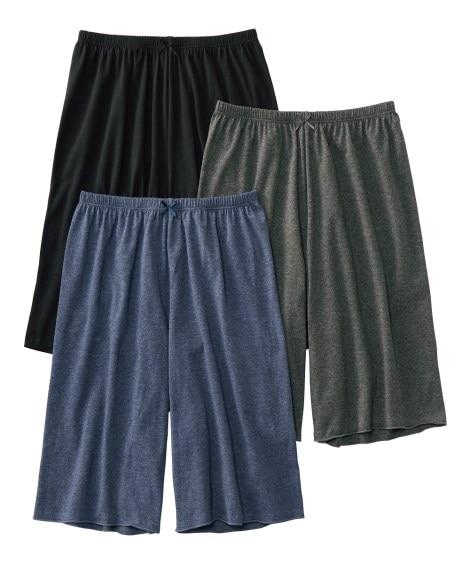 <ニッセン> 綿混ストレッチ くつろぎトランクスロングショーツ3枚組(10L) 3分丈・ロング丈ショーツ Panties