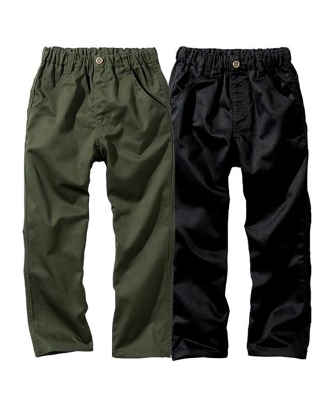 【子供服】 【もっとゆったりサイズ】ツイルロングパンツ2枚組...