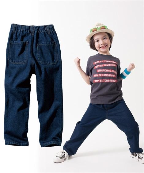 【子供服】 デニムストレートパンツ(男の子。女の子 子供服。...