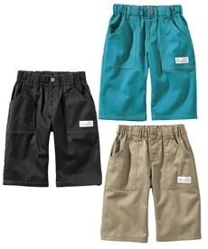 <ニッセン> 6分丈ツイルパンツ3枚組(男の子 子供服。ジュニア服) パンツ 1