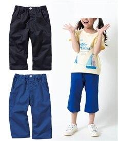 <ニッセン> 6分丈ツイルパンツ3枚組(男の子 子供服。ジュニア服) パンツ 6