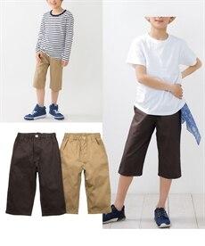 <ニッセン> 6分丈ツイルパンツ3枚組(男の子 子供服。ジュニア服) パンツ 5