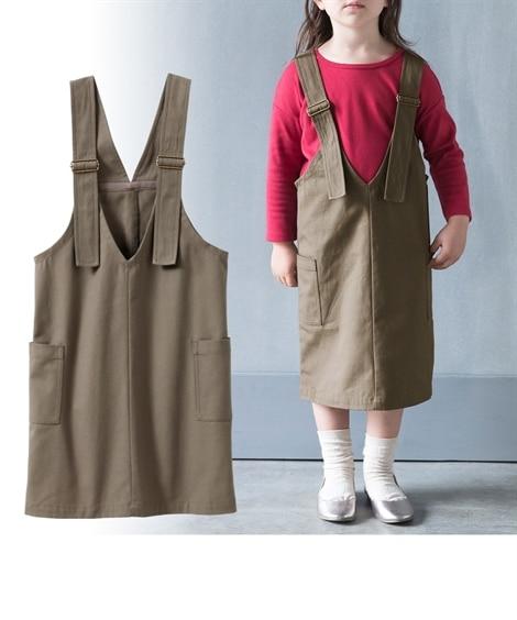 綿100%ジャンパースカート(女の子 子供服 ジュニア服) (オールインワン) Kids' Overalls