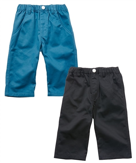 6分丈ツイルパンツ2枚組(子供服 男の子 ジュニア服) パンツ, Kids' Pants