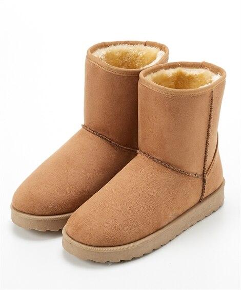 ムートン調ブーツ(ワイズ3E) ブーツ・ブーティ, Boot...