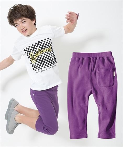 カットソーストレッチハーフパンツ(男の子。女の子 子供服。ジ...
