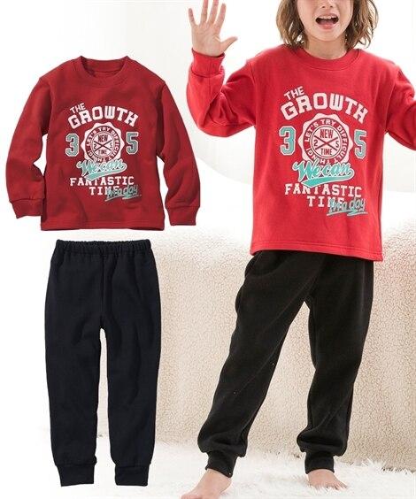 男の子裏起毛プリントパジャマ(男の子 子供服。ジュニア服) ...