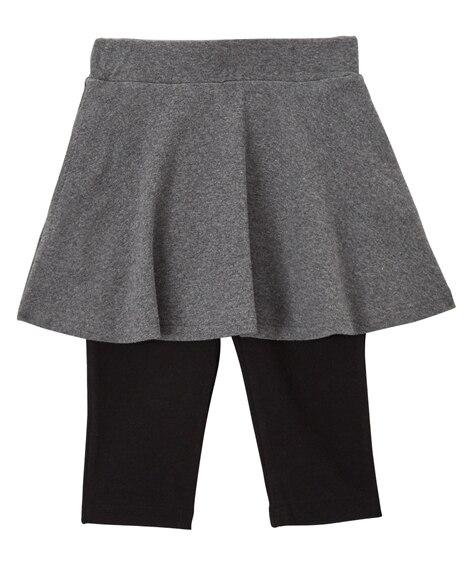 ポケット付6分丈無地スカッツ(女の子 子供服。ジュニア服) (スカート付パンツ) Girls Skirts