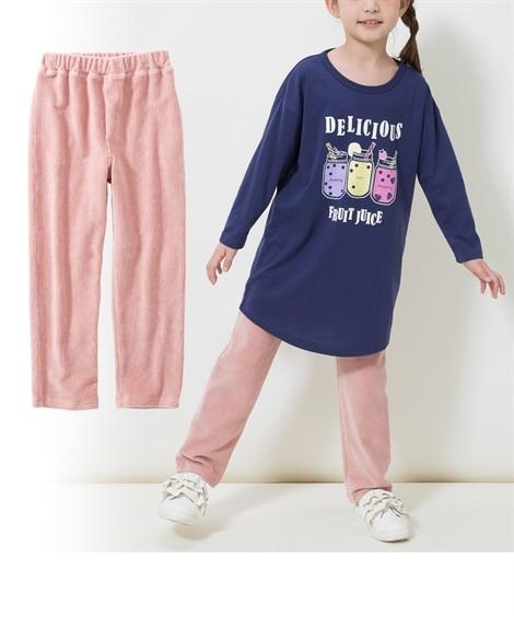 はきやすいカラーニットコールストレートパンツ(子供服 男の子。女の子 ジュニア服) パンツ, Kids' Pants