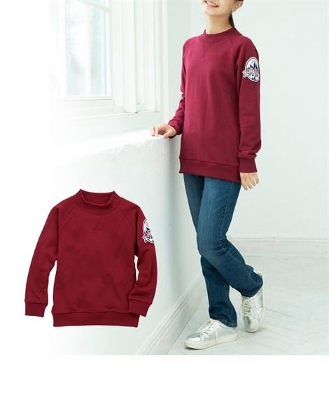 袖ワッペン裏毛トレーナー (トレーナー・スウェット)Kids' Sweatshirts