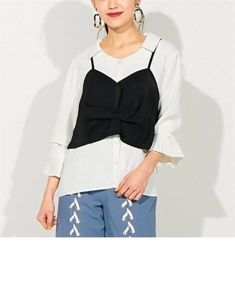 ビスチェレイヤードシャツ(スパイラルガールプラス) (大きい...
