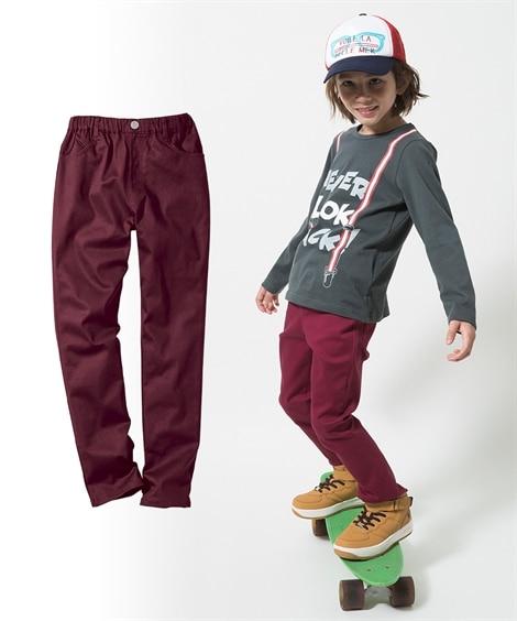 ストレッチツイルストレートパンツ(男の子。女の子 子供服。ジ...