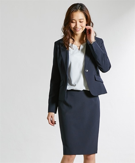 嬉しい選べる丈展開!洗える定番スカートスーツ(選べる2レング...