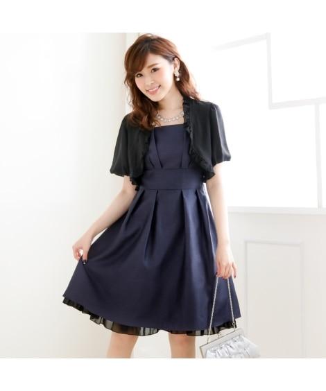 【新色追加】シャンタンワンピースドレス―(ボレロ付)(選べる...
