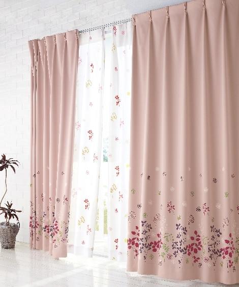 【送料無料!】フラワー柄遮光カーテン ドレープカーテン(遮光あり・なし)の商品画像