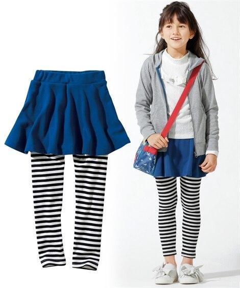 フレアスカッツ(女の子 子供服。ジュニア服)レギンス付スカート (スカート付パンツ) Girls Skirts
