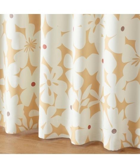 【送料無料!】カジュアルフラワー柄遮光カーテン 遮光カーテン...