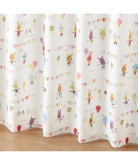 【送料無料!】ポップアニマル柄カーテン 遮光なしカーテン...