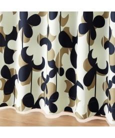【送料無料!】北欧調リーフ柄遮光カーテン 遮光カーテンの小イメージ
