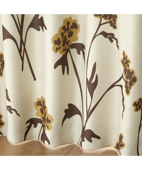 【送料無料!】北欧調フラワー柄遮光カーテン