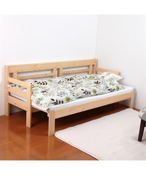 ソファーにもなる天然木すのこベッド すのこベッド・畳ベッド, Beds(ニッセン、nissen)
