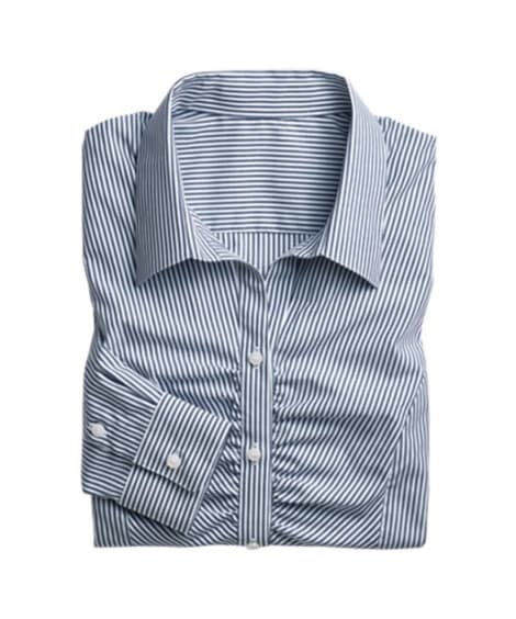 形態安定胸ギャザースキッパーシャツ(ゆったりバスト) (ブラ...