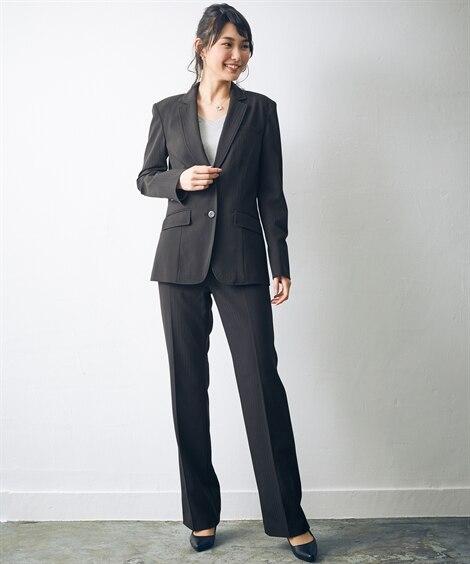 トールサイズ すごく伸びるロング丈ジャケットスーツ(選べる2...