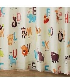 【送料無料!】動物の名前カーテン(ことばのもり) ドレープカーテン(遮光あり・なし)の商品画像