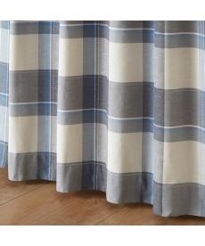 【送料無料!】ナチュラルチェック柄ジャカード織カーテン 遮光なしカーテンの小イメージ