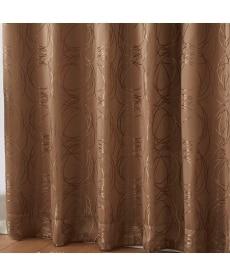 【送料無料!】ラインサークル柄遮光カーテン 遮光カーテンの小イメージ