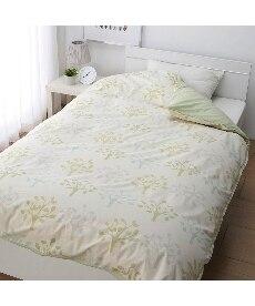 【日本製】綿100%掛け布団カバー(リーフ柄) 掛け布団カバーの小イメージ