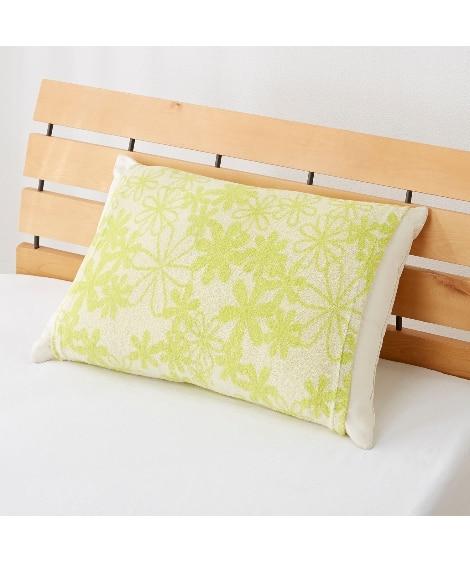 ジャカードパイルのびのび枕カバー(プチフラワー柄) 枕カバー...