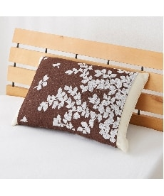ジャカードパイルのびのび枕カバー(リーフ) 枕カバー・ピローパッドの商品画像