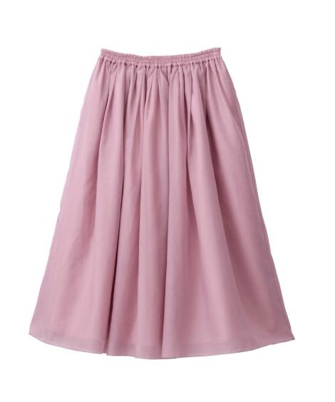 ギャザースカート(選べるスカート丈) (大きいサイズレディー...