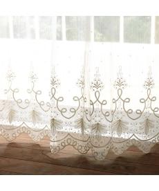 【送料無料!】トルコ刺繍極細ラインレースカーテン レースカーテン・ボイルカーテンの小イメージ