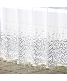 【送料無料!】トルコ刺繍クロッシェ裾レースカーテン ブラックフォーマルの商品画像