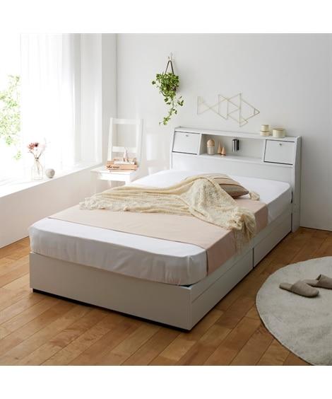 照明。棚。テーブル。引き出し付き多機能ベッド 収納付きベッド...