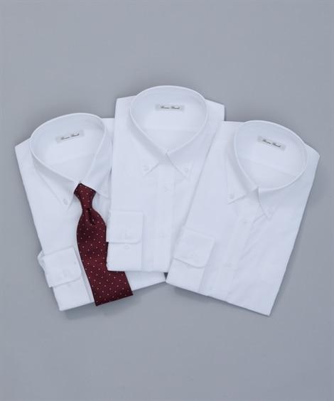 <ニッセン> 抗菌防臭。形態安定長袖ワイシャツ3枚組(ボタンダウン) (ワイシャツ)