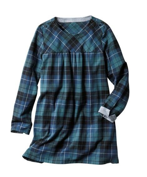 デザインシャツチュニック 【大きいサイズレディース】チュニッ...