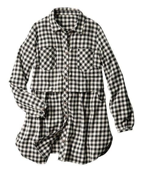 デザインシャツチュニック 【大きいサイズレディース】