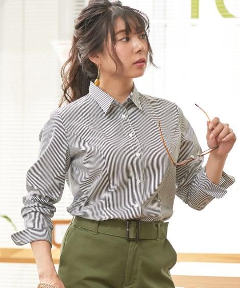 【大きい胸専用】ストレッチレギュラーカラーシャツ