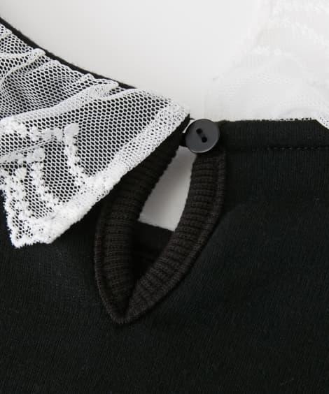 f7bccef9d3c09 バックスタイル  レース衿お出かけワンピース(女の子 子供服・ジュニア服)(フォーマルワンピース・