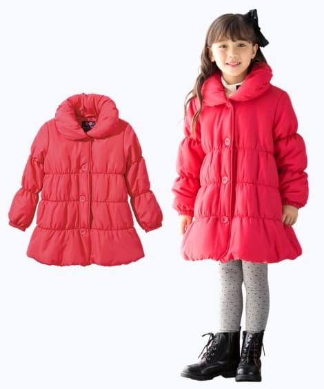 後リボンAラインコート(女の子 子供服。ジュニア服) ジャン...