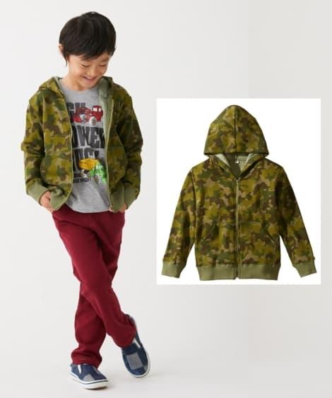 a867fbe5da685 ... あったか裏シャギー パーカージャケット(男の子・女の子 子供服・ジュニア服)(